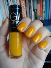 Empolgação - Hits + Cobertura Encantada - Risqué (Mari Hotz) Tags: esmalte unha risqué hits gioantonelli amarelo mostarda flocado s