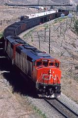 1987 08 08   7  CN 5409, -, WB Coal Savona BC (Custom) (waldronyoung) Tags: cn savona sulphur