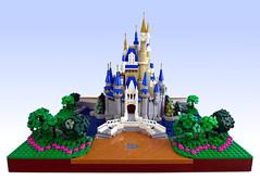 Cinderella Castle (Swan Dutchman) Tags: lego disney waltdisney disneyland cinderella castle cinderellacastle themepark magickingdom waltdisneyworld tokyo florida fantasyland palace