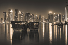 Dhows in Doha! (aliffc3) Tags: dhows doha qatar waterfront nikond750 nikon70200f4 artistic art reflections tourism
