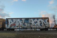 Awal, Goon (NJphotograffer) Tags: graffiti graff trackside track railroad rail art freight train bench benching boxcar box car wholecar awal goon