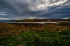 Waulkmill Bay, Hobbister, Orkney (splib1) Tags: scotland orkney blue green grey waulkmillbay hobbister rspb sssi siteofspecialscientificinterest scottishnaturalheritage kirbister lochofkirbister sandbars saltmarsh rain foreboding peatbog atlanticocean turquoise splib1