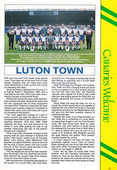 Norwich City vs Luton Town - 1991 - Page 15 (The Sky Strikers) Tags: norwich city luton town barclays league division one carrow road official matchday programme pound twenty