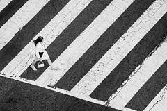 Crosswalk, Yeah (Geoff Livingston) Tags: woman dress white skirt walking street cross walk