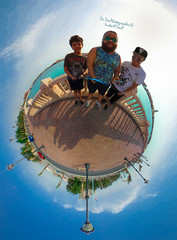 Obhour Cornich || كورنيش أبحر (dr.7sn Photography) Tags: 360 tiny tinyplanet planet jeddah saudiarabia cornich obhour obhor redsea sea tree trees brother brothers theta thetas fisheye lightroom تصويري العالم قرية صغيرة جدة السعودية الكورنيش ابحر الاخوة احتراف محترف