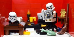 Just Chillin' (RagingPhotography) Tags: lego star wars galactic empire imperial stormtroopers troopers bedroom messy dirty unorganized chilling reading humor funny laugh goofy plastic toy minifigure minifig ragingphotography d3300