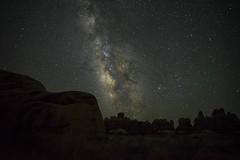 Needles Stars (haas.evan) Tags: red milkyway canyonlandsnationalpark needlesdistrict utah rockformations