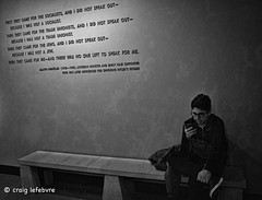 We were distracted (craig lefebvre) Tags: blackwhite distract lefebvre distraction mobile museum holocaustmuseum