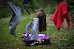 Suitcase-2 (danalynch1) Tags: edit suitcase travel disappear apparition purple hues clothes vacation packing