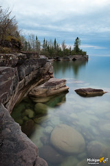 """Dead Calm""  Lake Superior (Michigan Nut) Tags: lakesuperior michigan upperpeninsula calmwater greatlakes nature usa landscape longexposure coastline stormysky clouds translucent peaceful"
