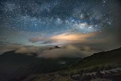合歡山.東峰~雲瀑銀河~  Milkyway (Shang-fu Dai) Tags: 台灣 taiwan 南投 nikon d610 sky landscape formosa galaxy 銀河 星空 milkyway 合歡山 合歡東峰 3421m hehuan 夜景