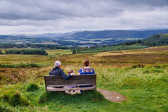 Bench with a view (Tatters ❀) Tags: scotland bench people view viewpoint