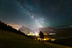 As You Were (DeviantOptiks) Tags: milkyway astrophotography nikon couple love mountains canadianrockies mountrundle banffnationalpark silhouette deviantoptiksphotography alberta canada explorealberta night nightphotography stars space clouds lightpollution