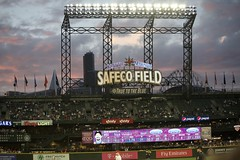 Safeco Field at night (hj_west) Tags: baseball philadelphiaphillies seattlemariners safecofield mlb interleague stadium night sports