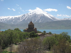 Holy Cross Armenian Church (Alexanyan) Tags: ahtamar island armenian apostolic church van lake mountain blue western armenia cross