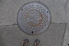 Assorted Kuroiso manholes (Stop carbon pollution) Tags: japan 日本 honshuu 本州 touhoku 東北 fukushimaken 福島県 kuroiso 黒磯