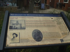 John Morgan Marker In Scottsville, KY, August 1,2016 (rustyrust1996) Tags: allencounty scottsville kentucky publiclibrary marker civilwar johnmorgan courthouse