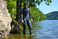 Bleseventy Fusion (036) (Merman latex) Tags: wetsuit neoprene wet tight tightclothes rubber skin wetsuits blueseven