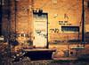 Power station door (Jörn Pachl) Tags: door brickporn industrial leipzig kunstkraftwerk olympusep1 olympuspen olympus brick aviary avenuefilter deviantart