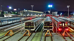 Atlanta, GA: MARTA Armour Yard at night (nabobswims) Tags: atlanta ga georgia hdr highdynamicrange lightroom marta metro nabob nabobswims night rapidtransit sel18105g sonya6000 subway ubahn us unitedstates