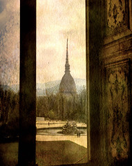 Watching Antonelliana tower from the window (vittorio.chiampan) Tags: italy torino fineart art landscape monument window