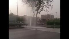 نافورة على طريق الملك فهد بالرياض إثر انكسار ماسورة مياه (ahmkbrcom) Tags: طريق الملك فهد