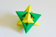 Fixed Angle Two Tetrahedron Compound (Byriah Loper) (Byriah Loper) Tags: origami modularorigami modular origamimodular byriahloper byriah paperfolding paper polyhedron polygon wireframe 2tetrahedra