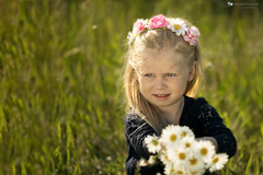 I love her eyes (Irena Rihova) Tags: beautiful beauty children girl child kids kid long hair blonde blond flowers outdoor light