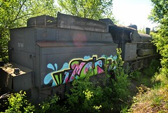 In the chimney corner (Loco Steve) Tags: railway derelict rusty strasshof austria abandoned travel