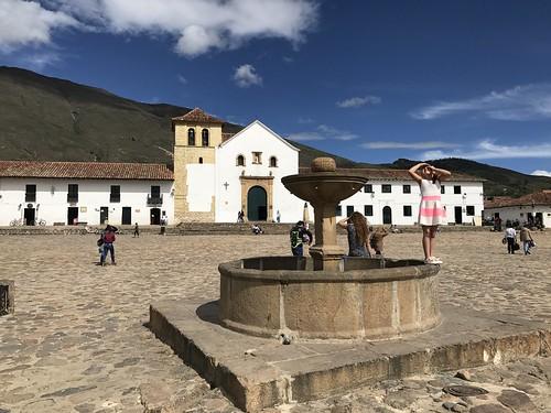 Plaza Mayor, Villa de Leyva, Colômbia.