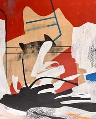 Jim Harris: Sans titre. (Jim Harris: Artist.) Tags: art arte painting geometric red silver space landscape konst kunst künstler contemporaryart contemporáneo contemporânea peinture