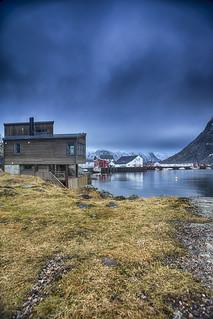 Norwegian Fishing Village Å in Lofoten, Norway at Hamnoy and Akkarvika Islands