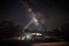"""Night Rider"""" hypnotized by Milky Way"""