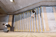 downstairs (Watcher/124) Tags: architektur hongkong treppe blicknachunten people street