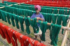 Dyeing Factory (ashik mahmud 1847) Tags: bangladesh pattern d5100 nikkor people working man colorful red green line