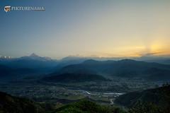 sarangkot- sunrise-12 logo (anindya0909) Tags: nepal sarangkot sunise sunrise
