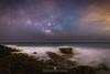 MYSTERIOUS TIDES (David Ros Photography) Tags: beach calblanque canon6d cartagena canoespaña davidros irix irix15mm irixlens largaexposición longexposure milkyway ocean panoramic panoramica spain vialactea