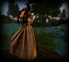 -JMK-The Maid Sage Dress (melyna.foxclaw) Tags: jmk maitreyalarameshbody uacmf medievalfaire thehopegarden iheartslfeed festive music gown dress lady headdesk akeruka themaidsagedress