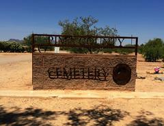 Pima County Cemetery (Midnight Believer) Tags: tucsonarizona pimacountycemetery sign signage burialground americansouthwest death pimacounty