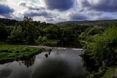Besalú III (Carlos Sobrino) Tags: river landscape nikon besalú water reflection clouds flickelite csobrino