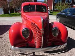 1938 Ford Fordor (crusaderstgeorge) Tags: crusaderstgeorge cars classiccars chrome redcars red cool hotrod 1938fordfordor 1938 ford fordor americancars americanclassiccars americancarsinsweden örnsköldsvik sweden sverige