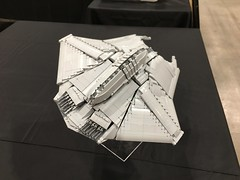 LEGO ID4 Independence Day fighter - BrickWorld Chicago 2017 (aaron.fiskum) Tags: legofreaks legospace lego id4 indepenedence day space scifi science fiction alienfighter alien fighter legoid4 legoindependenceday bricks