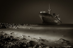 Ghost Ship (cfaobam) Tags: lanzarote ghost ship schiff schiffswrack wrack fels ufer meer shipwreck