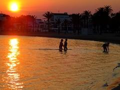 Roses Beach.. Costa Brava (Clare-White) Tags: beach sunset orange spain roses reflection bestofweek1