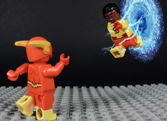Help me Barry!!! (MrKjito) Tags: lego minifig super hero comic flash cw season ep 15 warth savitar kid wally west barry allen speed force prison trap future portal