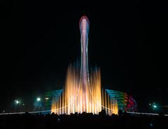 Olympic fountain, Sochi (Igor Komissarov) Tags: fountain nikon night water sochi sky colors light dark longexposure olympic