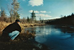 The peace of wild things (DC Products) Tags: 1999 maine fryeburg stonehousefarm nature winter water pond frozen thatsme film shellpond