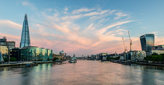 The River (George Plakides) Tags: cheesegrater shard thames bridge tower london water sunrise clouds belfast cranes hdr