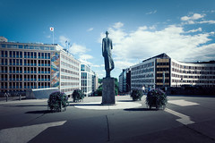 (Svein Nordrum) Tags: sculpture statue oslo norway scandinavia architecture blue sky explore explored