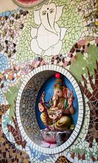 IMG_46181 (Manveer Jarosz) Tags: auroville bharat ganapati ganesha ganpati hindu hindustan india southindia tamilnadu wwoof worldwideopportunitiesonorganicfarms art circle culture divine elephant hole inside mosaic murti religion rural sculpture tiles wall